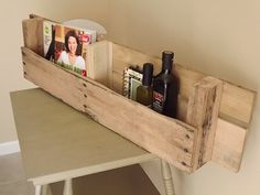 Another Wood Pallet Shelf Brad made.  Unfinished Recycled Wood Pallet Shelf by daddytellmeastory on Etsy, $20.00