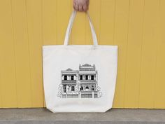 Vintage Australian Terrace House illustrated by VicinityStore