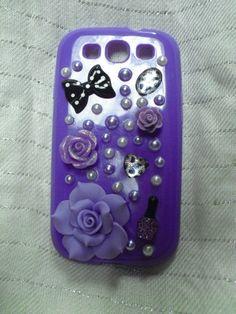 Purple Galaxy S3 phone case by Futjigoolies on Etsy, $15.00