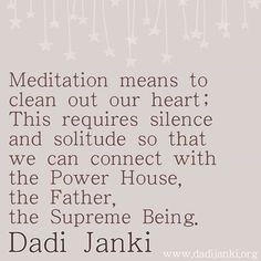 Meditation is a means of transforming the mind.It is a simple practice available to all, which can reduce stress, increase calmness and clarity and promote happiness Rajyoga Meditation, Meditation Meaning, Meditation Benefits, Brahma Kumaris, Om Shanti Om, Latin Words, Sister Quotes, Spirituality, Stress
