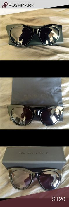 Kendall + Kylie Sunglasses The famous Kendall + Kylie sunglasses on which everyone is waiting. It hasn't been out yet, just got lucky to have one. Got it from Neiman Marcus. Grab it now before its gone... Brand new without tags. Final sale. Kendall & Kylie Accessories Sunglasses