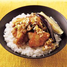 ねぎだれ油淋鶏(ユーリンチー)丼 | きじまりゅうたさんのから揚げの料理レシピ | プロの簡単料理レシピはレタスクラブニュース