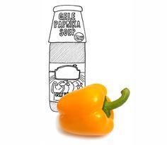Soep van gele paprika's, heerlijk. Maar niet uit fles, blik, pot of stazak. Gewoon zelfgemaakt.