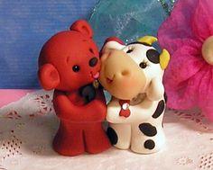 Polymer Clay Friends - too cute!!