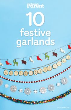 Kids will love these cute, non-traditional takes on festive #garlands.