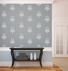 Wall Patterns, Vinyl Designs, Damask, Baroque, Wall Decals, Create Your Own, Whimsical, Patterned Wall, Flooring