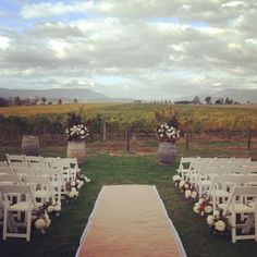 Outdoor Wedding Ceremony Set up. Beautiful!