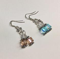 Swarovski Crystal Cube Earrings  Choose by SnowflakeEclecticArt