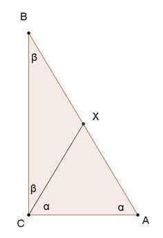 Reverse of Thales' theorem