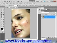 Learn how to use the spot healing brush tool in Adobe Photoshop at www.teachUcomp.com. A clip from Mastering Photoshop Made Easy v. CS5. http://www.teachucomp.com/free - the most comprehensive Photoshop tutorial available. Visit us today!