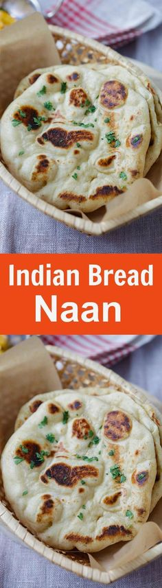 Naan - the easiest homemade Indian naan recipe that you can make on skillet. Fluff and soft naan that tastes like Indian restaurants | http://rasamalaysia.com