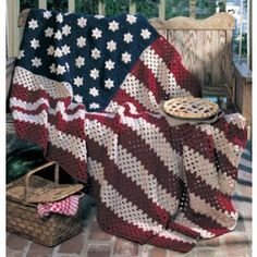 All American Crochet Afghan Pattern...I made this one- it turned out beautifully!