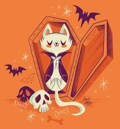 "Check out this @Behance project: ""Vampire Kitty"" https://www.behance.net/gallery/43966135/Vampire-Kitty"