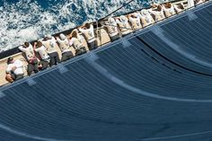 Lay on rails. Classic Sailing, Classic Yachts, Sailing Yachts, Sailing Ships, J Class Yacht, Sailboat Racing, Hope Anchor, Out To Sea, Sail Boats