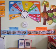 Construction d'une horloge dans la classe, pour travailler sur le repère dans le temps sur une journée en maternelle.