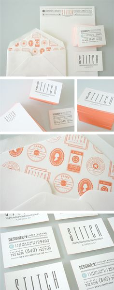 Card STOCK with coral/peach edging - nuf said! via S T I T C H