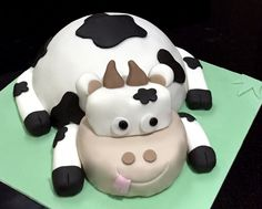 Cow themed Birthday cake ready for delivery! Based in Leek, Staffs, check out my website for prices & more ideas. Delivery available in Leek, Stoke area.
