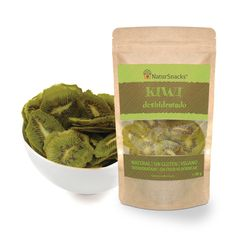 Kiwi deshidratado. Bolsa de 30 gramos.  Ingredientes: Kiwi Natural, sin gluten, sin freír ni hornear, sin conservantes.  Elaborado con corazón en España.  www.instagram.com/NaturSnacks
