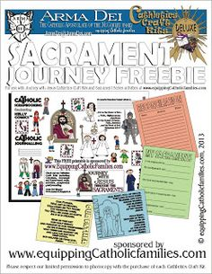 Celebrating the Sacraments: Summary of ideas to help teach and celebrate Sacraments: two FREE printables