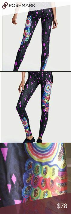 $ dropped ! Victoria secret sport med Worn x 1 owl design with bling print design, love them, but I have too many! Lol Victoria's Secret Pants Leggings
