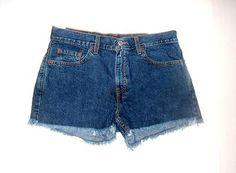 Womens/Juniors Levi's 11 Denim Jean Frayed Hem Shorts