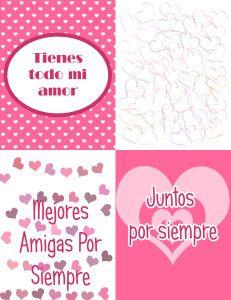 4 tarjetas 231x300 Postales de San Valentin para imprimir