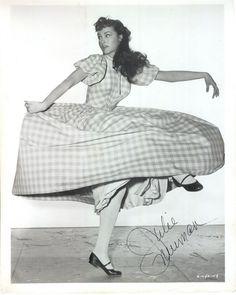 Julie Newmar, promo shot for Seven Brides for Seven Brothers