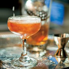 Louisville's pre-Prohibition cocktail - The Seelbach.  Bourbon, Cointreau, bitters and sparkling wine