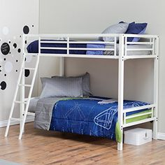 Duro Hanley Twin Over Twin Bunk Bed  White ** You can find more details by visiting the image link. (This is an affiliate link)