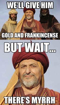 funniest christmas puns myrrh