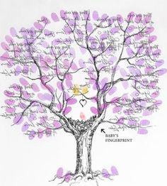 Finger Print Tree from Pink Art Studio