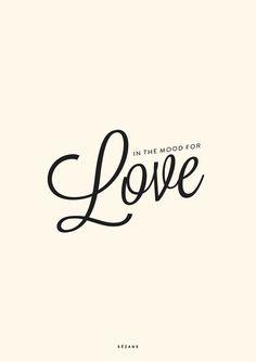 In the mood for love - Journal Sezane Typography Card #sezane #journalsezane