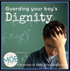 Guarding Your Boy's Dignity. New from the #mobsociety!