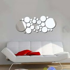 Removable Round Mirror Style Art Wall Stickers Decal Fashion Home Mural Decor