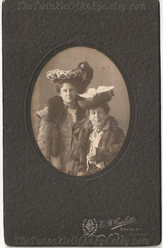 Antique Photograph Fabulous Hats by TheTwinkleOfAnEye on Etsy