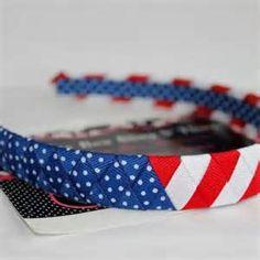 NEW American flag headband stars and stripes at www.artfire.com