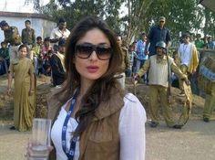 Kareena Kapoor Khan on the sets of Satyagraha