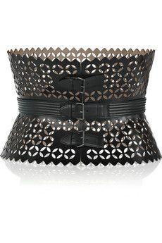 Alaia Leather Waist Belt. I die.