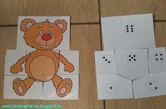 Kinderspiel: Teddybär- Körperteile