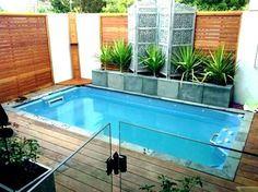 Pool ideas for small spaces to Turn the Backyard into a Relaxing Retreat. tags: backyard ideas, swimming pool design, backyard pool ideas on budget, small backyard pool, backyard pool lanscaping. Small Backyard, Small Swimming Pools, Small Patio Design, Patio Design, Small Backyard Design, Small Pool Design, Swimming Pool Designs, Building A Swimming Pool, Little Pool