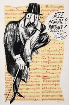 Collection of five Monterey Jazz Festival posters : Lot 81