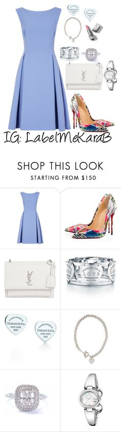 """KB0026"" by labelmekarab on Polyvore featuring Christian Louboutin, Yves Saint Laurent, Tiffany & Co., Gucci, Burberry, YSL, floralprint, Tiffany, Minimaliststyle and LabelMeKaraB"