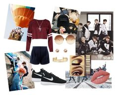 """""""your first date with your BTS member"""" by hanani-nur on Polyvore featuring NIKE, Nasaseasons, Linda Farrow, Stella & Dot, BERRICLE, Urban Decay, Lime Crime, kpop and bts"""