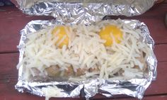 Going Free: Wonderful Wednesday - Pie Iron's Breakfast with sausage, hash browns, and eggs
