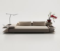 Christophe Pillet proposes a cunning sofa designed as a real pole relaxation within the living room. All in one, it is at the same time sofa, arrangement, reading corner, bookcase.This compact and p… Sofa Bench, Sofa Chair, Sofa Set, Canapé Design, House Design, Sofa Furniture, Furniture Design, Luxury Furniture, Interior Design Shows