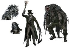 Huntsman & Minion from Bloodborne