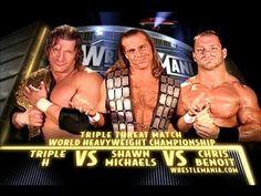 Triple H vs HBK vs Chris Benoit