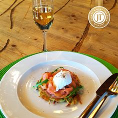 Herbed Potato Rosti with Smoked Salmon and Poached Egg Serves 6 INGREDIENTS: • 3 large Yukon Gold potatoes • ¼ cup clarified butter, melted • 1 small bunch Dill, chopped • 1 bunch chive, sliced finely • 1 small bunch parsley, chopped • ½ cup canola...