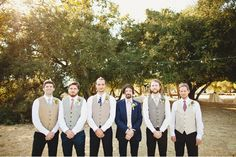 Adore this color palette for groomsmen!  And this wedding is beautiful in general...