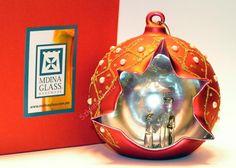 Bombka ze stajenką rękodzieło Mdina Glass -20%